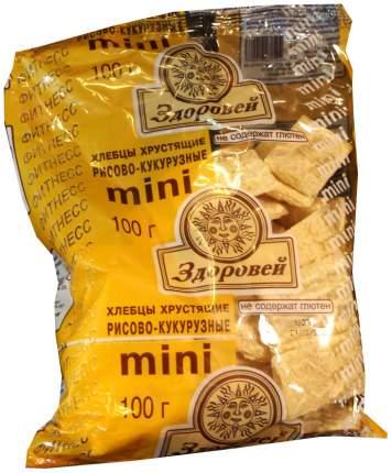 Здоровей Хлебцы Здоровей Мини 100 гр Рисовые с кукурузой