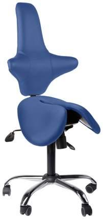 Двойное кресло-седло со спинкой EZDuo Back (цвет обивки: синий)