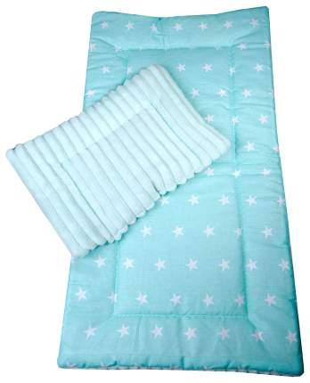 Комплект в коляску Bambola, матрасик, подушка (цвет: мятный)