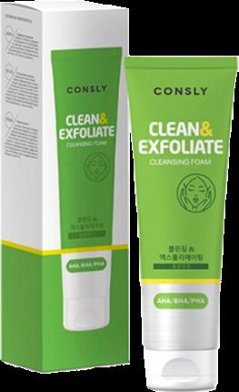 Пенка для умывания Consly AHA-BHA-PHA Cleansing Foam Clean and Exfoliate