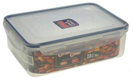 Контейнер для продуктов Good&Good пластиковый с зажимом 2,0 л
