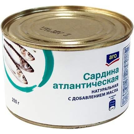 Сардина Aro натуральная с добавлением масла 250 г