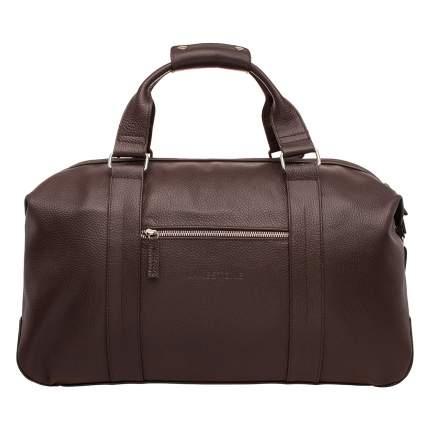 Дорожная сумка кожаная Lakestone 97543 коричневая 49 x 23 x 23