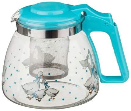 Заварочный чайник Agness 885-020 Голубой