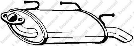 Глушитель выхлопной системы bosal 145609