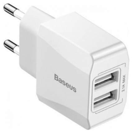 Сетевое зарядное устройство Baseus Mini Dual-U 2 USB 2,1A White