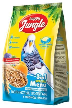 Основной корм Happy Jungle для волнистых попугаев при линьке 500 г, 1 шт
