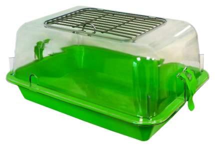 Террариум для рептилий ZooExpress 15022, зеленый, 27 x 18 x 40 см