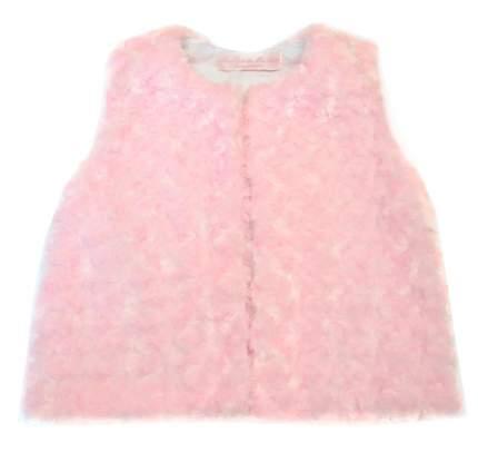 Меховой жилет Bon&Bon розовый 537, р.98