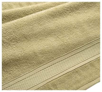 Полотенце махровое с бордюром (оливковое) 100х180