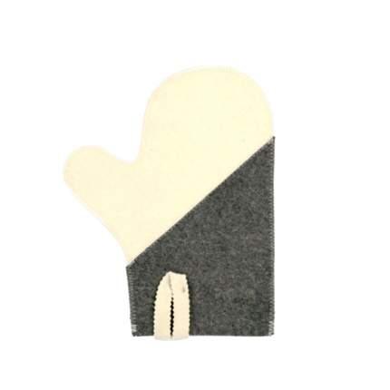 Рукавица для сауны комбинированная