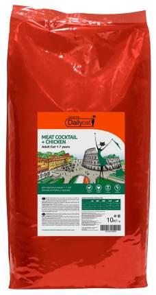 Сухой корм для кошек Dailycat Casual Line, мясо, курица, 10кг