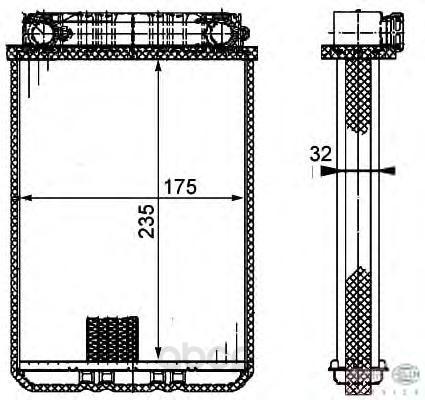 Радиатор отопителя HELLA 8FH351311181