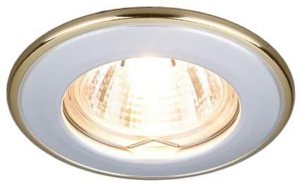 Встраиваемый светильник Elektrostandard 7002 MR16 WH/GD Белый/Золото a035074