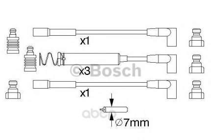 Провод высоковольтный комплект Bosch 0986356723
