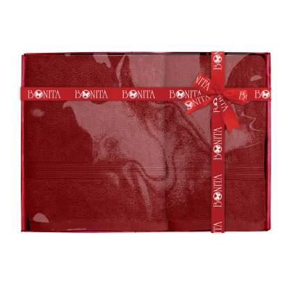 Набор из 2-х полотенец банных Bonita, махровых, Classic, Бордовый