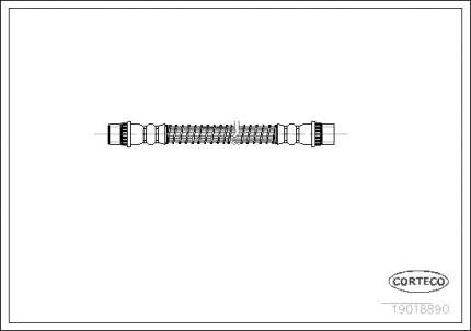Шланг тормозной CORTECO 19018890