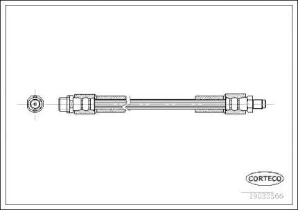 Шланг тормозной CORTECO 19033566