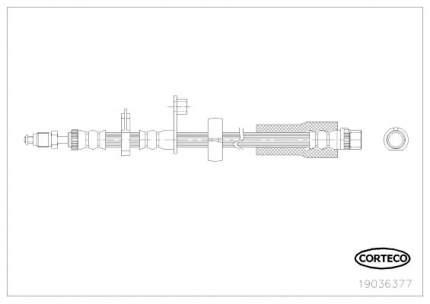 Шланг тормозной системы CORTECO 19036377