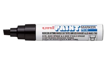 Маркер перманентный Uni Paint PX-30 4-8,5мм клиновидный (черный, 1 штука)