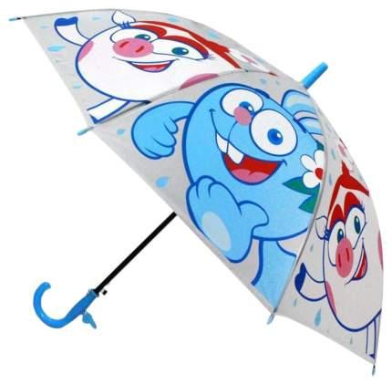 Детский зонтик Играем Вместе Смешарики прозрачный со свистком 50 см