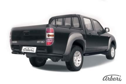 Защита заднего бампера d76 Arbori черный для Mazda BT-50 2006-2011