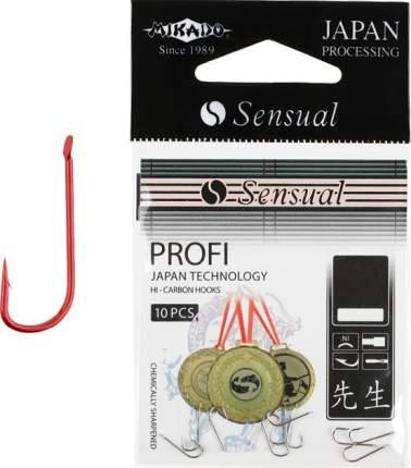 Крючки рыболовные Mikado Sensual Profi №24, красные