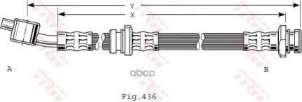 Тормозной шланг TRW/Lucas PHD480