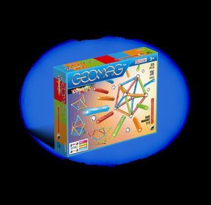 Магнитный конструктор GEOMAG 351 Confetti 35 деталей