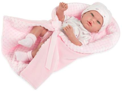 Пупс ARIAS Elegance с розовым одеялком, с соской, 38 см, Т13728