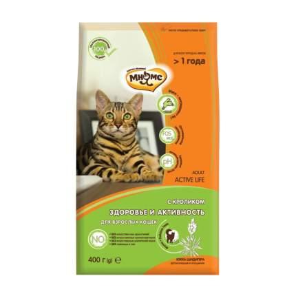 Сухой корм для кошек Мнямс Active Life, кролик, 0,4кг
