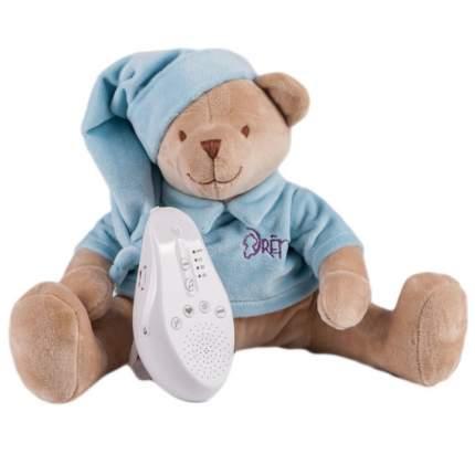 Игрушка-комфортер Мишка DrЁma BabyDou для сна, с белым и розовым шумом, голубой 102