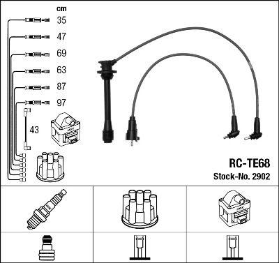 Комплект проводов зажигания NGK 2902