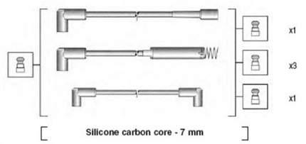 Комплект проводов зажигания MAGNETI MARELLI 941125180672
