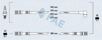 Комплект проводов зажигания FAE 83490