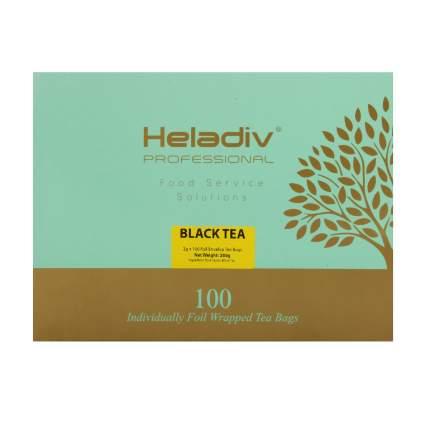 Чай в пакетиках Heladiv professional line black 100 пакетов в саше