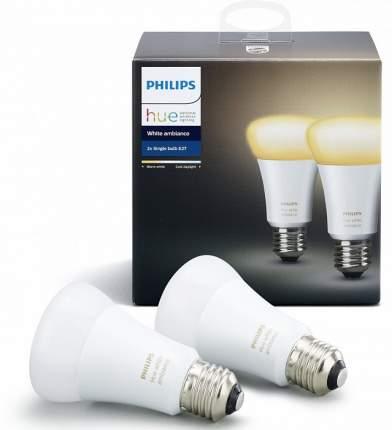 Комплект умных ламп Philips Hue White Ambiance E27 2 шт, (White)