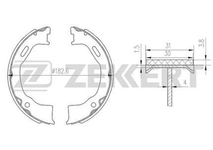 Комплект тормозных колодок ZEKKERT BK-4149