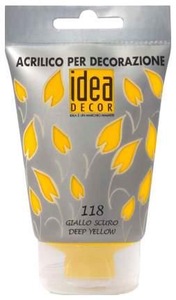 Акриловая краска Maimeri Idea Decor темно-желтый M3818118 110 мл
