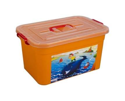 Ящик Для Хранения Игрушек Полимербыт Радуга 81101