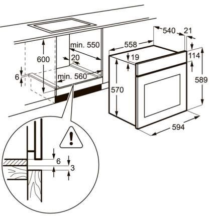 Встраиваемый электрический духовой шкаф Zanussi ZZB510401B Black