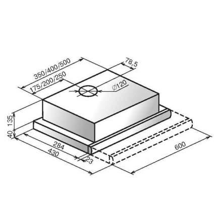 Вытяжка встраиваемая ELIKOR Интегра Glass 60 Silver/Beige