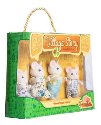 Семья белых мышек