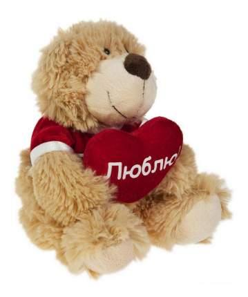 Мягкая игрушка Gulliver Мишка с сердечком Люблю, 23 см#