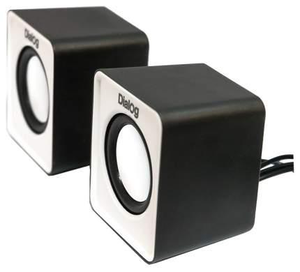 Колонки компьютерные Dialog Colibri AC-02UP 6Вт USB черно-белые