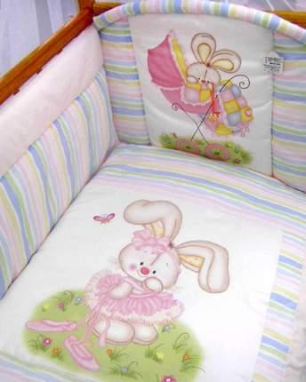 Комплект детского постельного белья Золотой Гусь 1166 розовый