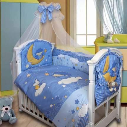 Комплект детского постельного белья Золотой Гусь 1282 голубой