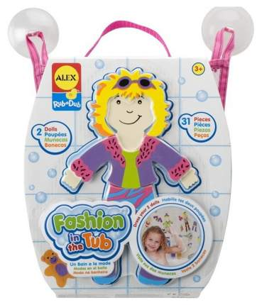 Игрушка для купания ALEX стикеры для ванны Одень куклу 806al