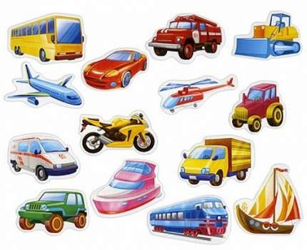 Мягкие магниты Vladi Toys Транспорт (VT3101-06)