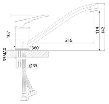 Смеситель для раковины Rossinka Silvermix A35-21U хром